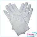 Перчатки лайкра белые (L)