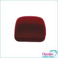 Футляр флок, прямоуг №01 кольцо, валик, бордовый, 120301