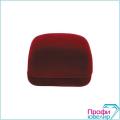 Футляр флок, прямоуг (№22 серьги/подвеску(2прорези+крючок), бордовый), 120322