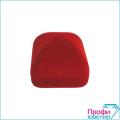 Футляр флок, пирамида №12 кольцо-серьги, Н-прорезь, красный