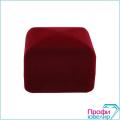 Футляр флок, квадрат №15 высокое кольцо-заколку, бордовый