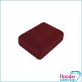 Футляр флок, прямоуг №07 кольцо+серьги,3 язычка, бордовый, 120507