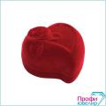 Футляр флок, сердечко с цветком №12, красный, 141012