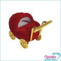 Футляр флок, коляска №12 кольцо-серьги,Н-прорезь, красный, 134312