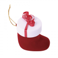 Футляр флок, валеночек №12 кольцо-серьги, красный, 137812