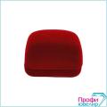 Футляр флок, прямоуг №23 серьги-подвеску, красный, 120323