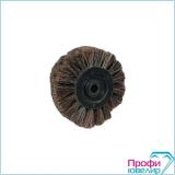 Щетка Торжок №1  70х15 мм. 4-х рядн. (волос темная-мягкая), 6944