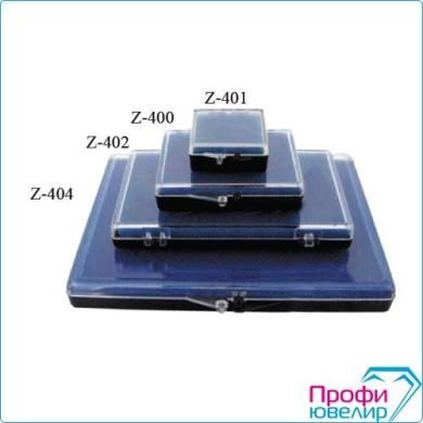 Коробка для вставок синяя 30х30мм Z-401