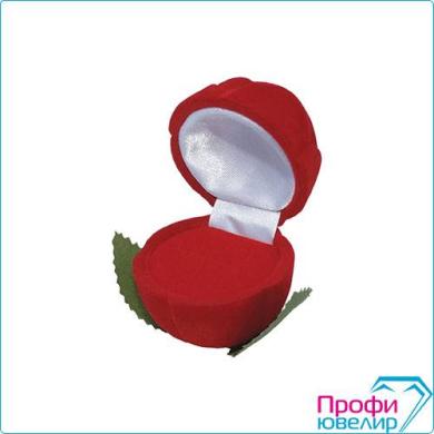 Футляр флок, роза без стебля малая №12, красный, 140112
