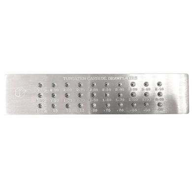 Доска фильерная квадрат 3 ряда 30 вставок 0,55-3 мм