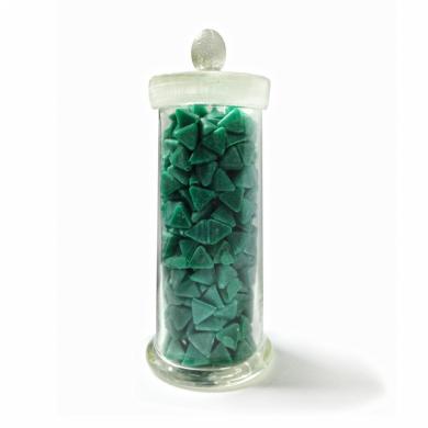 Наполнитель для галтовки пластик пирамида зеленая 600 1кг