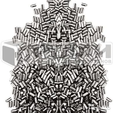 Наполнитель для галтовки стальной цилиндр 2х4мм 0,45кг