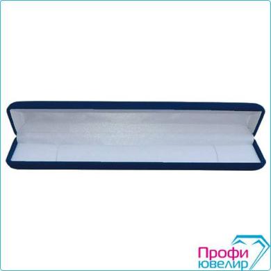 Футляр флок, прямоуг №05 цепочку-часы, темно-синий, 122205