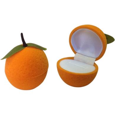 Футляр флок, апельсин (№11 кольцо, 1 прорезь), оранжевый, 131911