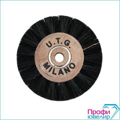 Щетка UTG MILANO с деревянным центром 4С, 40-65mm, темная,3201038