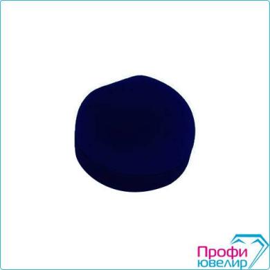 Футляр флок, полукруг №12 кольцо-серьги, Н-прорезь, темно-синий