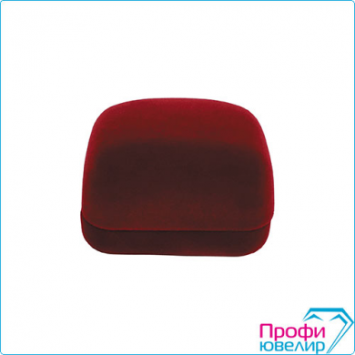 Футляр флок, прямоуг №02 серьги, 2 валика, бордовый, 120302