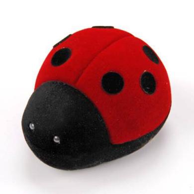 Футляр флок, божья коровка №12, черный-красный, 134612