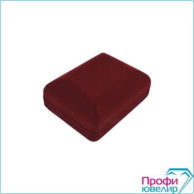 Футляр флок, прямоуг №10 универсальный, плоский жесткий, бордовый