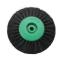 Щетка (40-65мм 78мм) 3-х рядная зеленая пластик KG0793